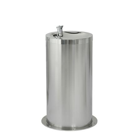 Sanela SLUN 23M Nerezová dětská pitná fontánka na podlahu, výška 650 mm, povrch misky vysoce lesklý, povrch opláštění matný (SL 83236)