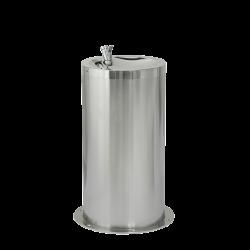 Sanela SLUN 23M Nerezová dětská pitná fontánka na podlahu, výška 650 mm, povrch misky vysoce lesklý, povrch opláštění matný (SL 83236), fotografie 2/1