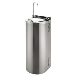 Sanela SLUN 43S Nerezová pitná fontána určená k montáži ke stěně, s tlačnou armaturou pro napouštění sklenic, s tlačnou pitnou armaturou, povrch misky vysoce lesklý, povrch opláštění matný (SL 83435)
