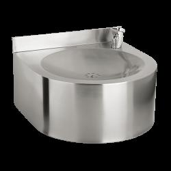 Sanela SLUN 62 Nerezová pitná fontánka závěsná s tlačnou armaturou, povrch matný (SL 93620), fotografie 2/1