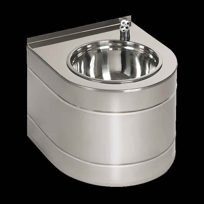 Sanela SLUN 14EB Nerezová pitná fontánka závěsná s automaticky ovládaným výtokem, 6V,povrch lesklý SL 93142