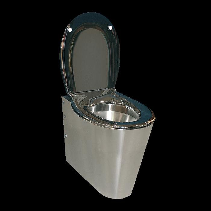 Sanela SLWN 03 Nerezové WC na podlahu BEZ sedátka, montáž pomocí montážní desky, matné SL 94030