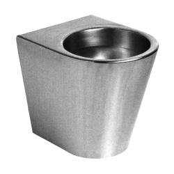 Sanela SLWN 05 Antivandalové nerezové WC na podlahu bez sedátka, montáž přes závitové tyče, matné (SL 94050)
