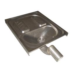 Sanela SLWN 07 Nerezové nášlapné WC k zapuštění do podlahy (SL 94070)
