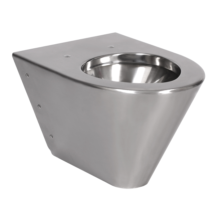 Sanela SLWN 09 Antivandalové nerezové závěsné WC bez sedátka, montáž pomocí montážní desky a přes speciální šrouby, matné SL 94090