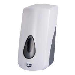 Sanela SLDN 06 Dávkovač mýdla a gelové desinfekce, 1 l, bílý plast ABS (SL 72060)