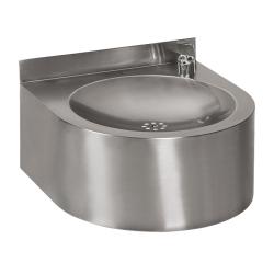 Sanela SLUN 62E Nerezová pitná fontánka závěsná s automaticky ovládaným výtokem, 24V DC, povrch matný (SL 93621)