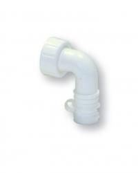 Kolínko 90° s matkou k pračkovému podomítkovému sifonu, bílé komplet  Plast Brno EPP1200 (EPP1200)