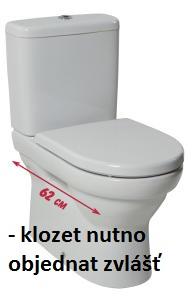 JIKA TIGO náhradní WCnádrž, boční nap., BEZ ventilů 8.2821.2.000.000.1 H8282120000001
