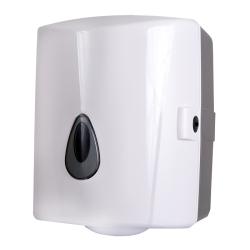 Sanela SLDN 02 Zásobník na papírové ručníky v rolích, bílý plast ABS (SL 72020)