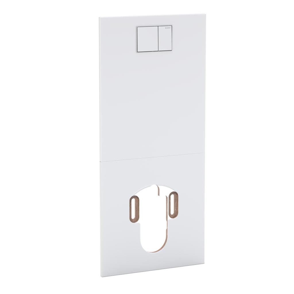 Geberit AquaClean Designová krycí deska pro Sela před nádržky Sigma, Typ 300 a Typ 130, sklo bílé 115.328.SF.1 115.328.SI.1