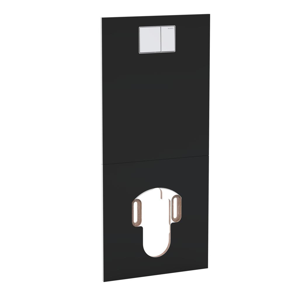 Geberit AquaClean Designová krycí deska pro Sela před nádržky Sigma, Typ 300 a Typ 130, sklo černé 115.328.SG.1 115.328.SJ.1