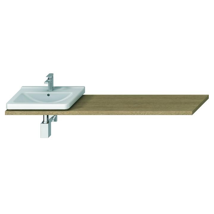 JIKA Cubito-N umyvadlová deska DUB s 1 výřezem 1600x470x36, řezatelná 650-1600, vlevo/vpravo H46J4230115191 H46J4230115191