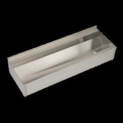 Sanela SLUN 10PL Nerezový žlab hranatý opláštěný, AISI 316L, délka 1250 mm, matný (SL 73104)