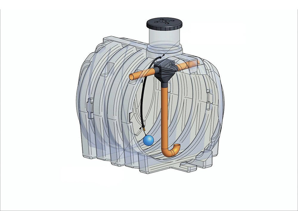 IVAR CS spol. s.r.o. IVAR ELCU- 3000l Plastová nádoba na využití dešťové vody IVAR.RAIN BASIC CU-300