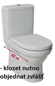 JIKA TIGO nádrž k WCmíse kombi, spodní napouštění vč.ventilů (BEZ nádržky proti orosení) 8.2821.3.000.742.1 H8282130007421