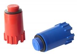 Plast Brno - Zátka 1/2 montážní dlouhá modrá s těsněním ZSY0001 (ZSY0001)