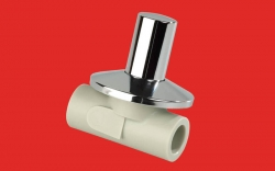 FV - Plast - PPR ventil podomítkový 20 kov. krytka, prodloužený  (Laguna) AA286020100 (313021)