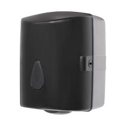 Sanela SLDN 02N Zásobník na papírové ručníky v rolích, černý plast ABS (SL 72021)