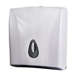 Sanela SLDN 03 Zásobník na skládané papírové ručníky, bílý plast ABS (SL 72030)