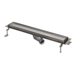 Sanela SLKN 12 Nerezový koupelnový žlábek pro vložení do dlažby do prostoru, délka 850 mm (SL 69120)