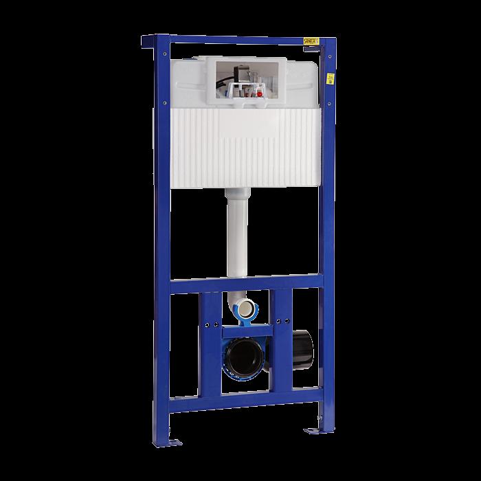 Sanela SLR 21 Rám s nádržkou určený do sádrokartonových konstrukcí nebo pro ukotvení na zem a do zadní zdi, pro zabudování suchým procesem, pro uchycení závěsného WC SL 08210