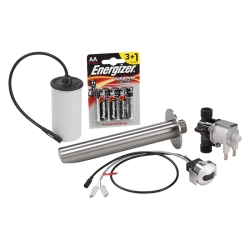 Sanela SLU 39BX Set nástěnné nerezové automatické umyvadlové baterie pro další montáž, 6V, povrch matný (SL 03393)