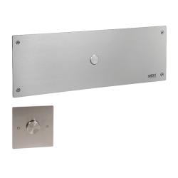Sanela SLW 04PA Piezo splachovač WC s druhým tlačítkem pro oddálené spláchnutí pro tělesně handicapované se speciálním antivandalovým krytem, včetně montážního rámu s nádržkou SLR 21, 24V DC (SL 14046)