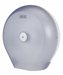 Ostatní - AND GO Zásobník na toaletní papír Maxi D4s průhledná/bílá 40012010 (40012010)