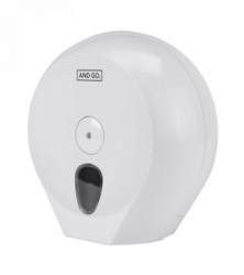 Ostatní - AND GO Zásobník na toaletní papír Midi D2 - průměr 24 cm bílá 40013000 (40013000)