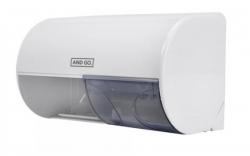 Ostatní - AND GO Zásobník na toaletní papír TWIN D1 - průměr 13,8 cm bílá 40011000 (40011000)