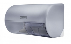 Ostatní - AND GO Zásobník na toaletní papír TWIN D1s průhledná/bílá 40011010 (40011010)