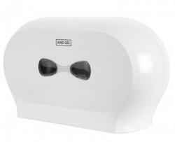 Ostatní - AND GO Zásobník na toaletní papír TWIN Midi D3 - průměr 18,5 cm bílá 40014000 (40014000)