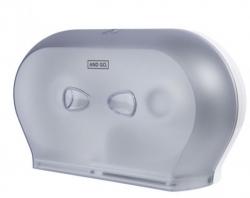 Ostatní - AND GO Zásobník na toaletní papír TWIN Midi D3s průhledná/bílá 40014010 (40014010)