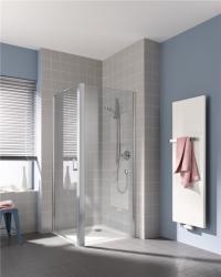 KERMI - Cada XS stříbrná lesk boční stěna  300/2000 čiré sklo s CadaClean CCTWD03020VPK (CCTWD03020VPK)
