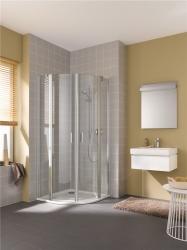KERMI - Cada XS bílá čtvrtkruh (kyvné dveře), R550 800/2000 čiré sklo s CadaClean CCP55080202PK (CCP55080202PK)