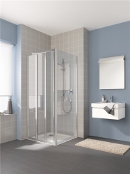 KERMI - Cada XS stříbrná lesk 3D posuvné dveře PP vlevo 700/2000 ESG Serigrafie  s CadaClean CCG3L07020VVK (CCG3L07020VVK)