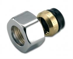 P.M.H - Svěrné šroubení NEREZ  M24 vnitřní CU 15x1, k žebříkům  530014INOX k designovým armaturám (530014INOX)