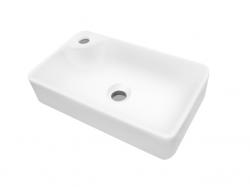 Dřevojas - Q 44 keramické umyvadlo - BÍLÉ (05514)