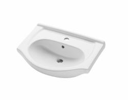Dřevojas - APOLO 50 keramické umyvadlo - BÍLÉ (05125)