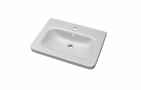 Dřevojas - DURASTYLE 65 keramické umyvadlo - BÍLÉ (05842)