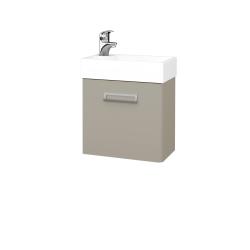 Dřevojas - Koupelnová skříň DOOR SZD 44 - L04 Béžová vysoký lesk / L04 Béžová vysoký lesk / Levé (151669)
