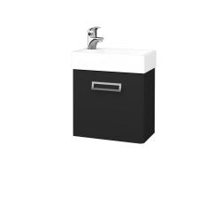 Dřevojas - Koupelnová skříň DOOR SZD 44 - L03 Antracit vysoký lesk / L03 Antracit vysoký lesk / Levé (151652)