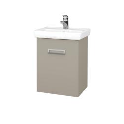 Dřevojas - Koupelnová skříň DOOR SZD 50 - L04 Béžová vysoký lesk / L04 Béžová vysoký lesk / Levé (151706)