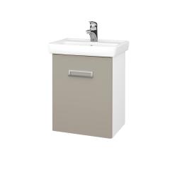 Dřevojas - Koupelnová skříň DOOR SZD 50 - N01 Bílá lesk / L04 Béžová vysoký lesk / Levé (122812)
