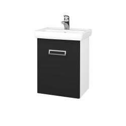 Dřevojas - Koupelnová skříň DOOR SZD 50 - N01 Bílá lesk / L03 Antracit vysoký lesk / Levé (122805)