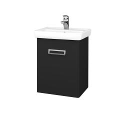 Dřevojas - Koupelnová skříň DOOR SZD 50 - L03 Antracit vysoký lesk / L03 Antracit vysoký lesk / Levé (151690)