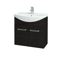 Dřevojas - Koupelnová skříň TAKE IT SZD2 65 - D14 Basalt / Úchytka T03 / D14 Basalt (151157C)