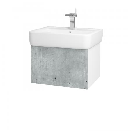 Dřevojas - Koupelnová skříň VARIANTE SZZ 60 - N01 Bílá lesk / D01 Beton (165482)