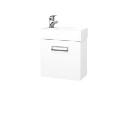 Dřevojas - Koupelnová skříň DOOR SZD 44 - N01 Bílá lesk / L01 Bílá vysoký lesk / Pravé (21903P)